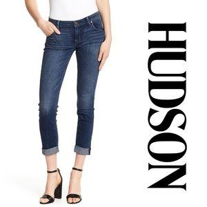 "HUDSON   ""Bacara"" Crop Straight Cuffed Jeans"